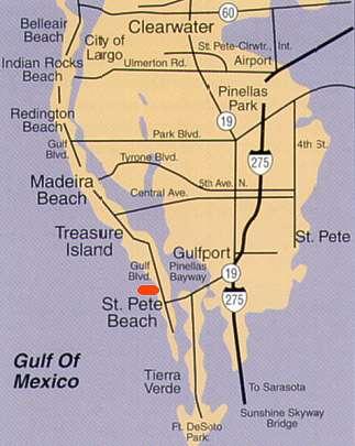 Best Western Beachfront Resort St Pete Beach Fl Map