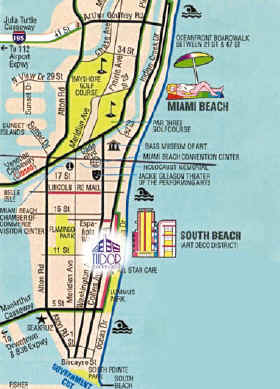 Map Of Hotels On Collins Avenue South Beach The Best Beaches In